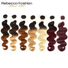 Rebecca Ombre Brazilian Body Wave 1/3 Bundles Two Three Tone