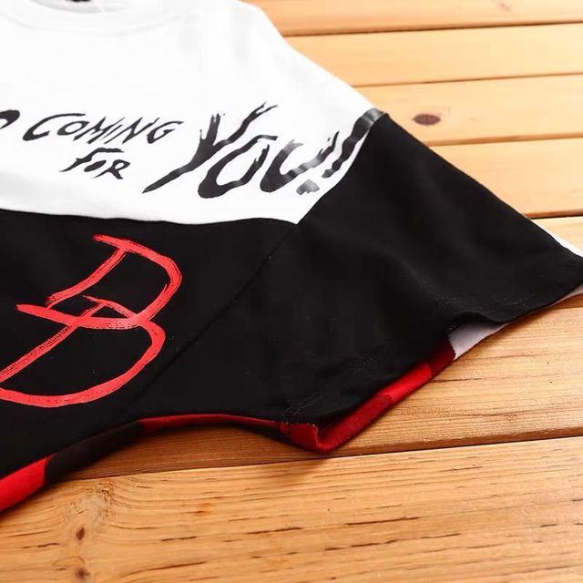 Camiseta de algodón con estampado de Hip Hop para hombre, camisa de manga corta a la moda, estilo rapero, Anime callejero japonés 5