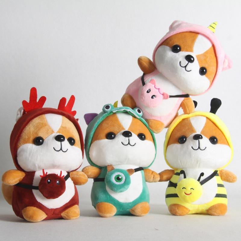 ZGY 25cm Cute Kawaii Shiba Inu Dog Plush Toy Stuffed Soft Squirrel High Quality Animal Doll Toys Corgi Chai Christmas Gift Child