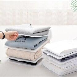 10 pçs pçs/set dobrável suportes de armazenamento de pano roupas simples guarda-roupa acabamento racks casa camisa roupa interior organizador placa artefato