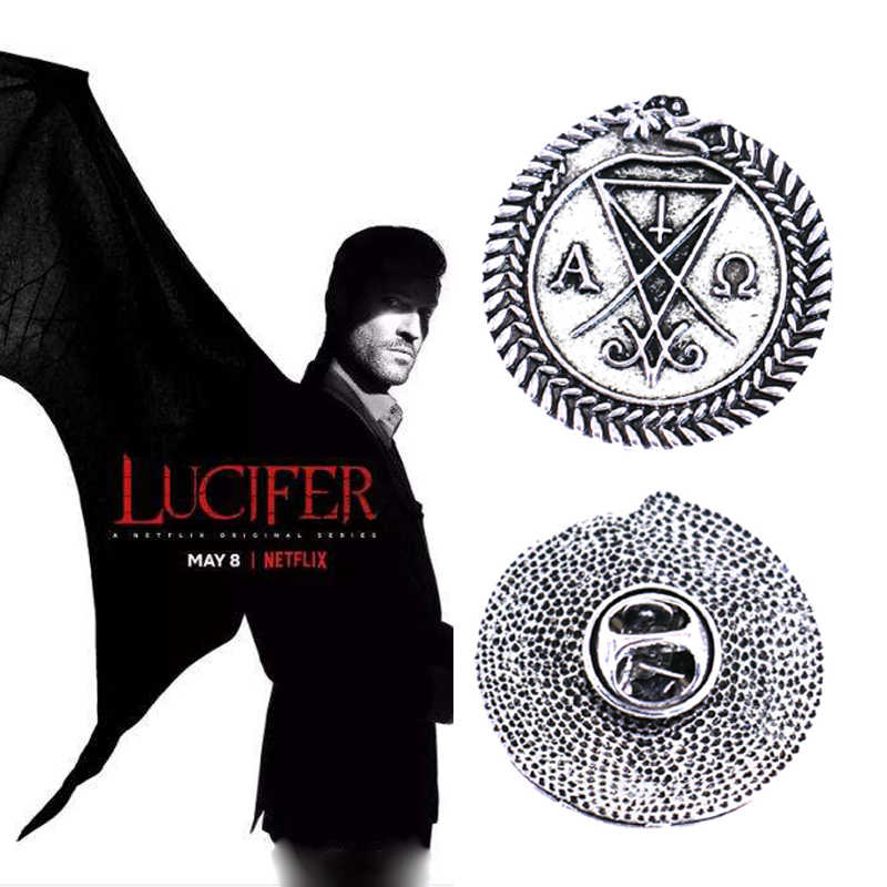 Movie Lucifer Cosplay Broche Props Kerst Cosplay Metalen Badge Pin Props