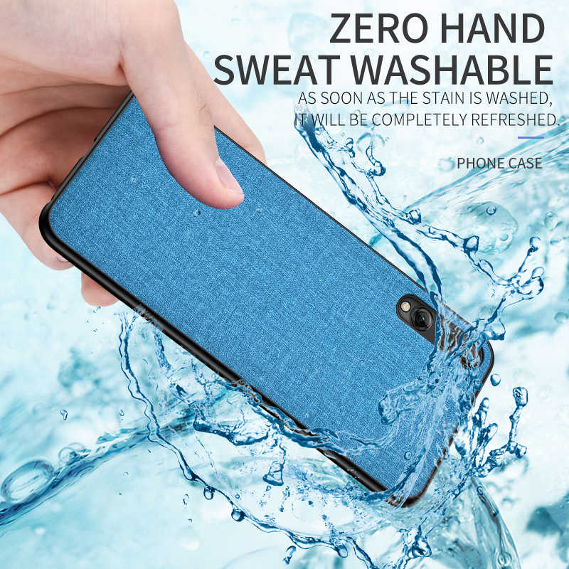 Phone Case For Huawei Y5 Y7 Y9 2019 Soft Rubber Edge Capa For Huawei Y6 Y7 Pro Phone Cloth Fabric Pc Cover