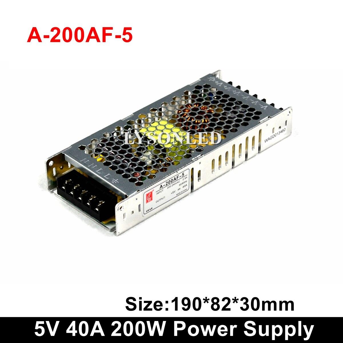 Chuanglian A-200AF-5 Ultrathin 200W Power Supply 5V 40A Display PSU