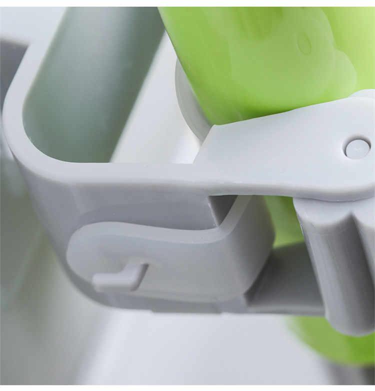 1 sztuk Mop i uchwyt na miotłę organizator na mopa ogród przechowywania stojak kuchnia narzędzie wieszak składany stojak narzędzia metalowe za drzwiami/na ścianach