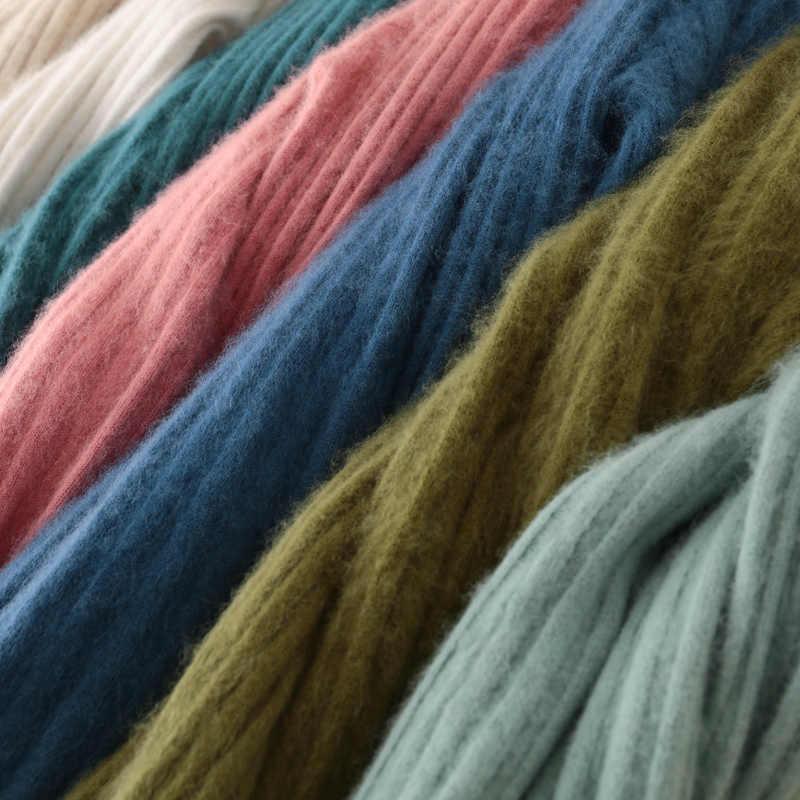 Mới Bơm Áo Len Nữ Đầu Ngắn Phần Nửa Cổ Cao Dài Nước Nhung Size Lớn Đan Đáy Chồn cashmere