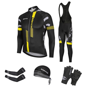 Maillot De equipo De Ciclismo para hombre, conjunto largo De carreras 5D,...