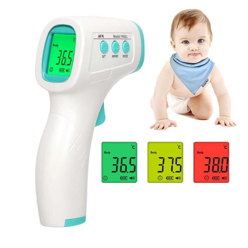 New Professional Object Surface Thermometer, Contactless Multi-Functional Digital Infrared Front Thermometer with LCD Display