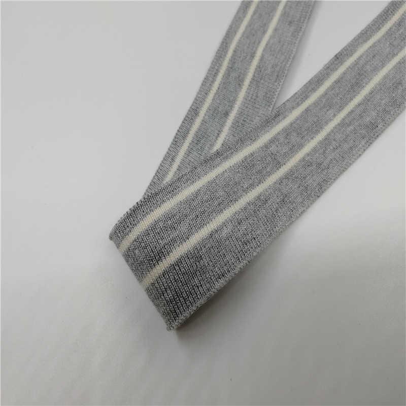 JIETAI tela de rayas coloridas de tela de algodón mercerizado DTY accesorios para el cuello puños dobladillo inferior cuello Draw Texturing