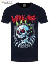 Blink-182 T-Shirt Blink 182 Ripper Homme Bleu Hip Hop  Clothing Cotton Short Sleeve T Shirt Men Casual Shirts