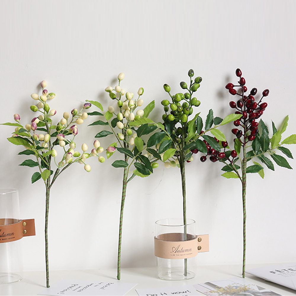 Olive Fruit Branch Artificial Flowers Party Home Decoration Small Fake Flower Fruit Branch Decoration Accessories Fake Plant