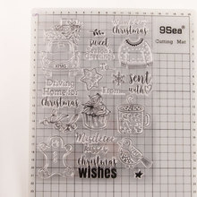 Christmas Tree Car Snowman Gift Pattern Transparent Clear Rubber Stamp Sheet Cling Scrapbooking Photo Album Paper Card DIY Craft diy christmas snowman pattern cutting die