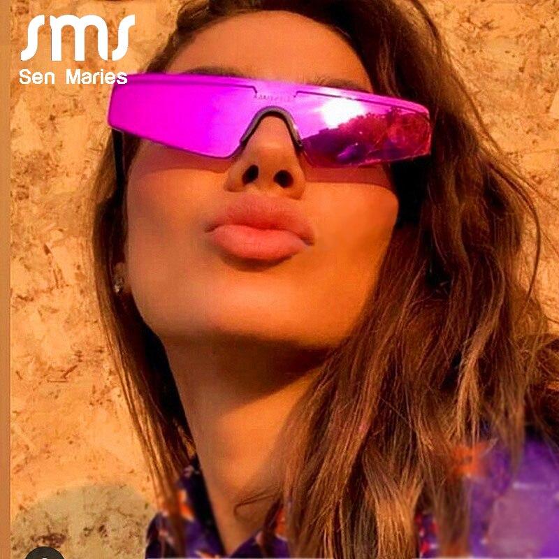Fashion Women Cat Eye Sunglasses Brand Designer  Small Half Frame Glasses Female Male Mirror Sport Siamese Eyeglasses UV400