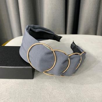 Chen Yan Fashion Print Headbands New Girl Headband Knot Cross Hairband FG 6