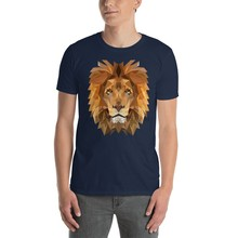 Aslan portre kral Savannah afrika Safari Unisex T-Shirt gömlek(China)