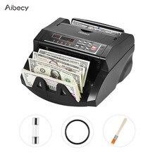 Aibecy multi waluta licznik banknotów gotówka pieniądze Bill automatyczna maszyna licząca IR/DD wykryj wyświetlacz LCD dla dolara amerykańskiego Euro