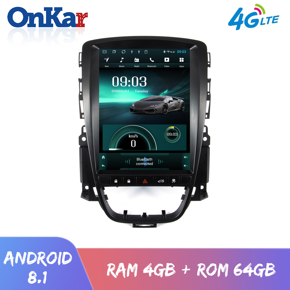 OnKar 10.4 Inch Vertical screen For Opel Astra J 2013 Buick Excelle XT/GT <font><b>Android</b></font> 8.<font><b>1</b></font> <font><b>Car</b></font> Multimedia Player <font><b>RAM</b></font> <font><b>4GB</b></font>+64GB <font><b>1</b></font> <font><b>Din</b></font> image