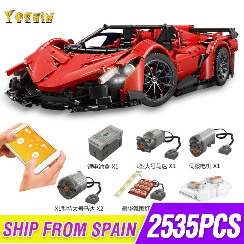 RC Car The Veneno Lamborghinis Roadster Power Function Car Building Blocks Bricks Kids Technic Toys Lepining 20091 MOC 10559