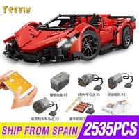 RC Car The Veneno Lamborghinis Roadster Power Function Car Building Blocks Bricks Kids Technic Toys 20091 MOC 10559