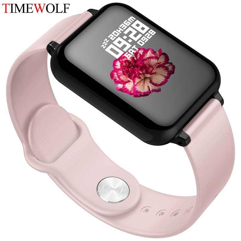 Timewolf Smart Watch iwo 8 iwo 10 w34 ECG+PPG Heart Rate Tracker Fitness Tracker Waterproof Smart Watch for Apple Android Phone