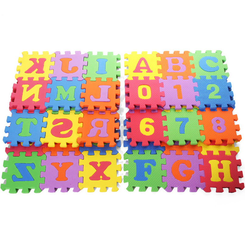 36PCS/Set EVA Baby Play Foam Number Letter Mats Puzzle Toys For Kids Soft Floor Play Carpet Educational Crawling Mat Baby Toy