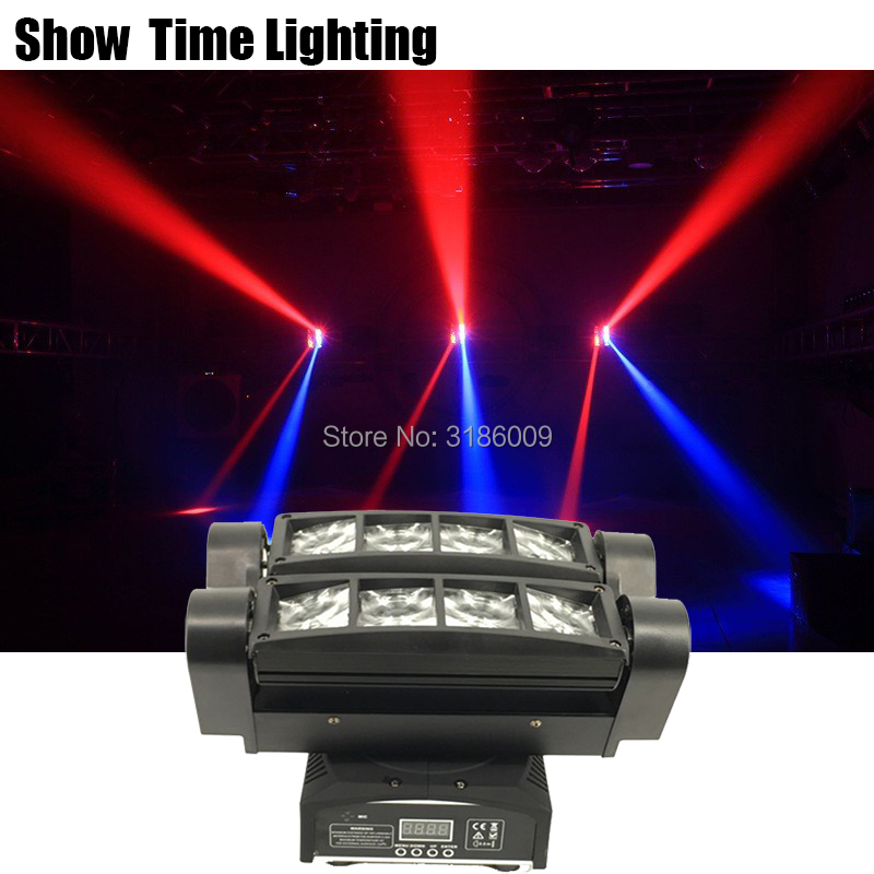 Show Time Mini Disco Led Dj Light Use For Party KTV Bar Led Beam Spider Moving Head Light Show Home Entertainment Dance