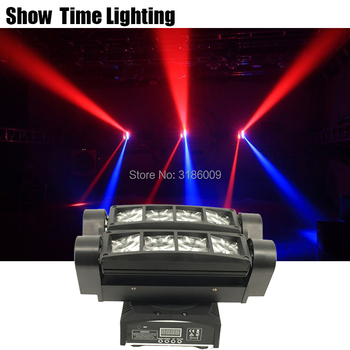 Show Time Mini Disco led dj light use for party KTV bar led beam spider moving head light show home entertainment dance can charge mini both head energy saving originality led to beam the lantern show meeting wireless move downlights lo463
