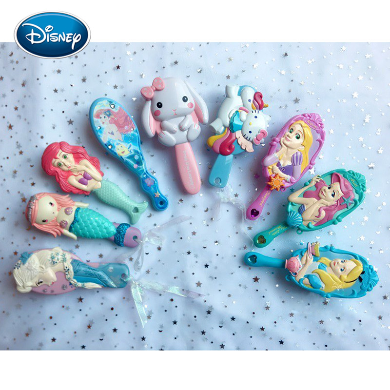Disney Comb Girl Frozen Princess Air Cushion Massage Comb Child 3D Princess Styling Comb Antistatic Airbag Comb