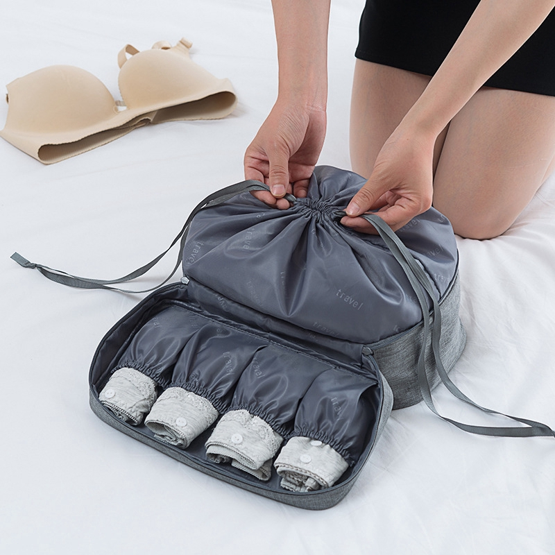 Waterproof Travel Packing Cube Underwear Bag Oxford Bra Box Wash Pouch Beauty Case Socks Clothes Organizer Travel Accessories