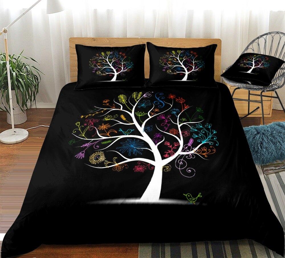 bohemian bedding set black bed linen