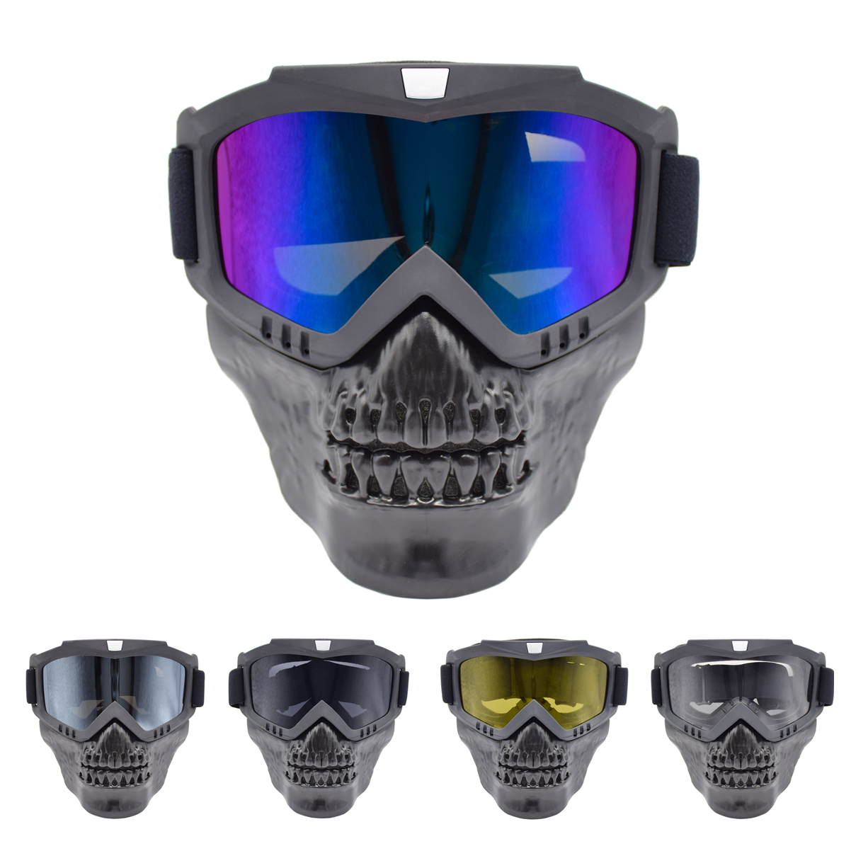 Unisex Skiing Goggles Modular Mask Detachable Mouth Filter Men Women Ski Snowmobile Snowboard Goggles Snow Winter Ski Glasses