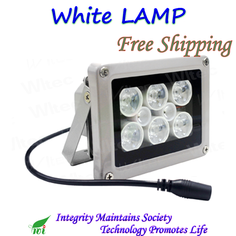 White Lamp 8 Super Leds for Security Project Downlight spot light for CCTV Camera Yard Lamp