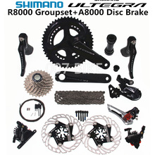 Groupset ULTEGRA Derailleurs Disc-Brake Bicycle R8000-Shifter ROAD FC CS 53-39T 50-34T