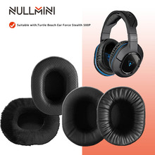 NullMini החלפת Earpads עבור צב חוף אוזן כוח התגנבות 500P אוזניות זיכרון קצף לעבות עור שרוול
