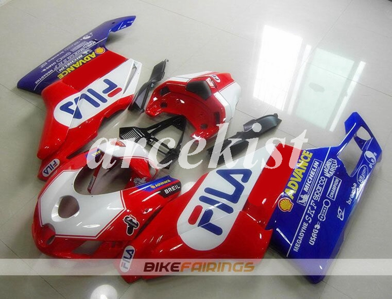 באיכות גבוהה חדש ABS אופנוע fairing ערכת fit עבור Ducati 749 999 05 06 2005 2006 הזרקת עובש מעטפת סט אדום כחול