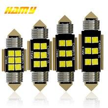 1x C5W светодиодный лампы Canubs 12V 6 SMD супер яркий белый C10W светодиодный гирлянда 31 мм 36 мм/39 мм/41 мм ошибок Лицензия Plat интерьер светильник