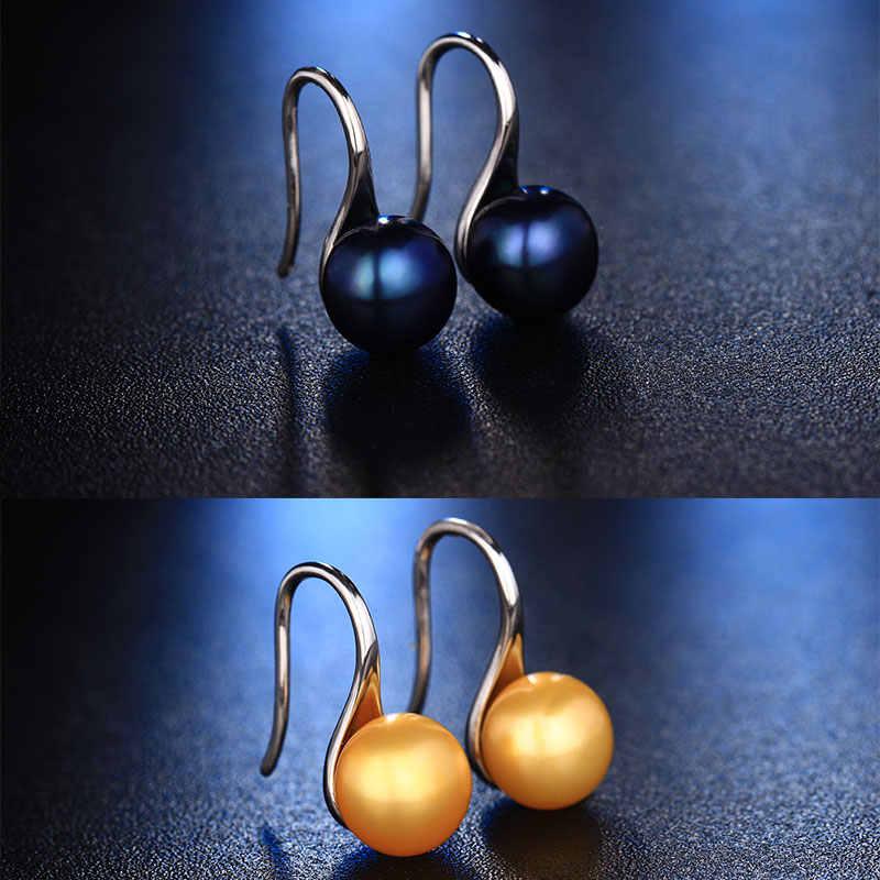 ขายร้อนธรรมชาติต่างหูมุกสำหรับผู้หญิงน้ำจืดAAAAมุกต่างหูสตั๊ดอุปกรณ์เสริมต่างหู