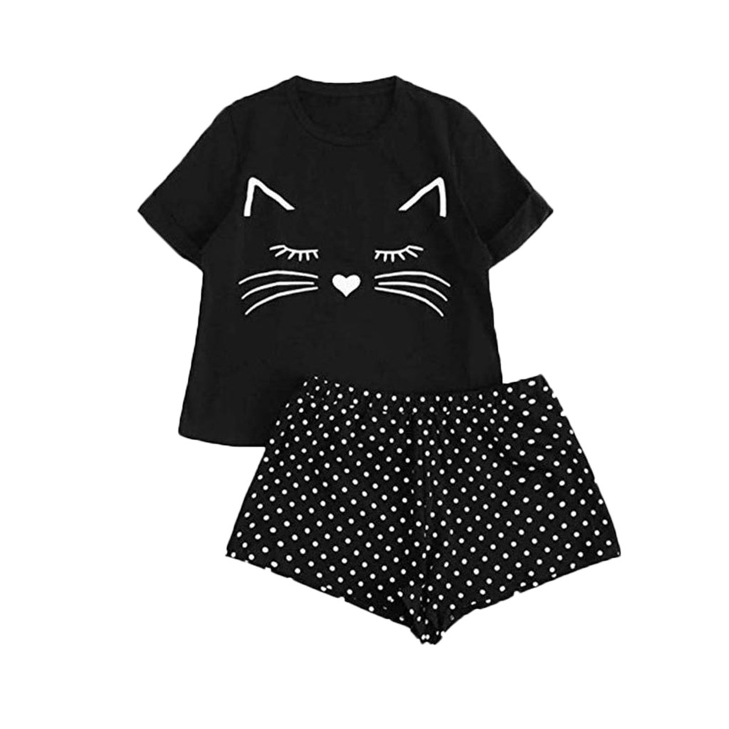 Women Pajamas Set Casual Clothing Suit Female Short Sleeve T Shirt Tops Shorts Sexy And Panty Set Push Up Underwear Women Linger