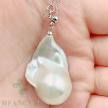 21x34 мм Белое жемчужное ожерелье в стиле барокко 18 дюймов шикарный Diy женский подарок Классический