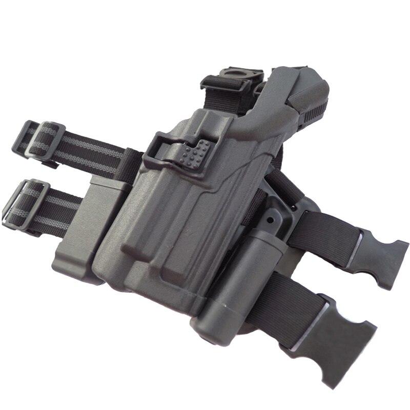 pistola coldre lanterna militar arma estojo airsoft perna direita coldre 02