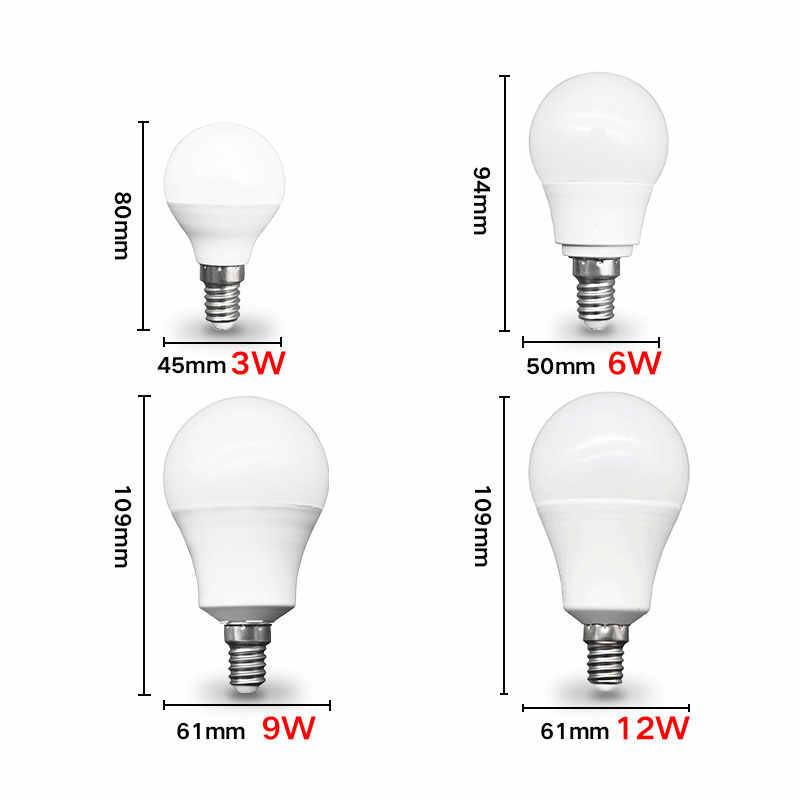 LED E14 LED lampa E27 LED żarówka AC 220V 230V 240V 20W 18W 15W 12W 9W 6W 3W Lampada reflektory LED lampa stołowa lampy światła