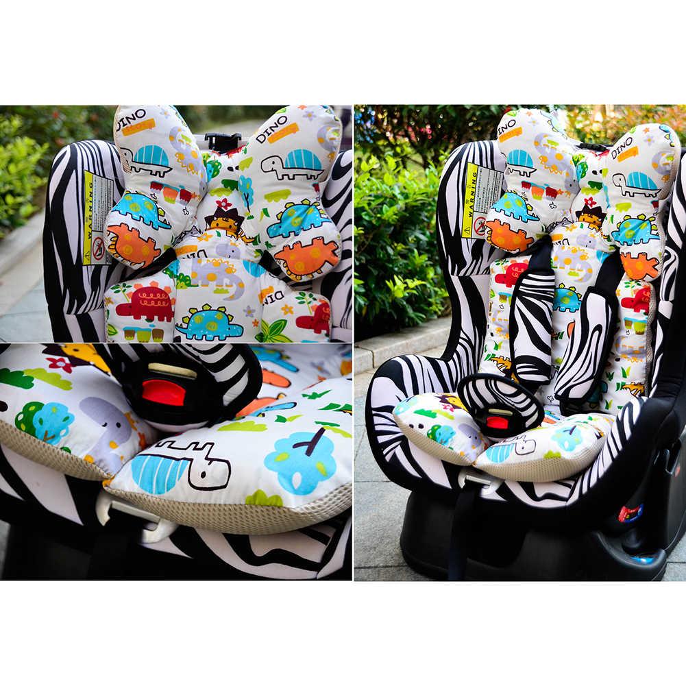 เด็กพิมพ์รถเข็นเด็กที่นั่ง Warm Cushion Pad ที่นอนหมอนเด็ก Carriage รถเข็น Thicken Pad รถเข็นเก้าอี้เบาะ
