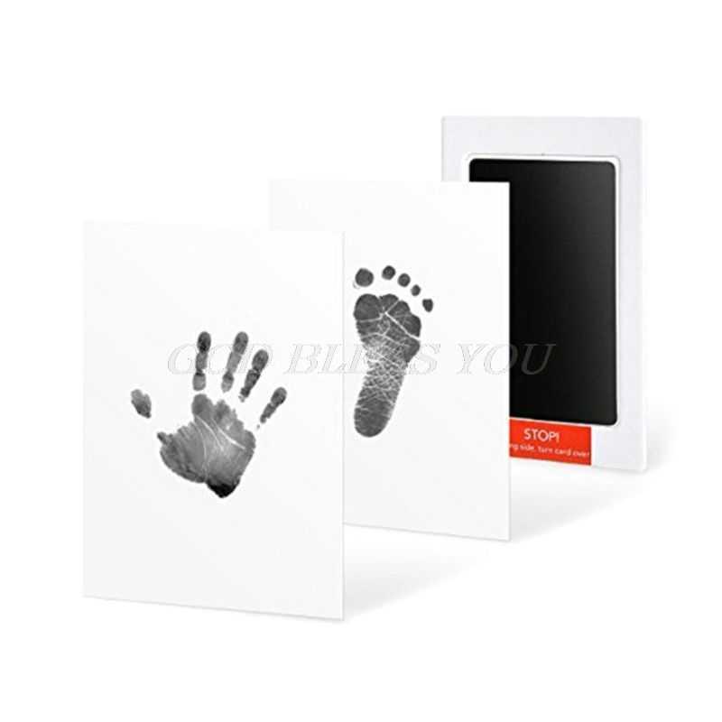 Baby Handabdruck Fußabdruck Tinte Pads Kits Haustier Katze Hund Pfote Drucken Souvenir Sicher Ungiftig Geschenke Drop Verschiffen
