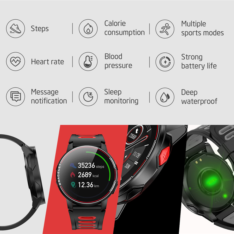 2020 Full Touch Round Smart Watch Men IP68 Waterproof Blood Pressure Smartwatch Women Heart Rate Sport Clock For Android IOS 10