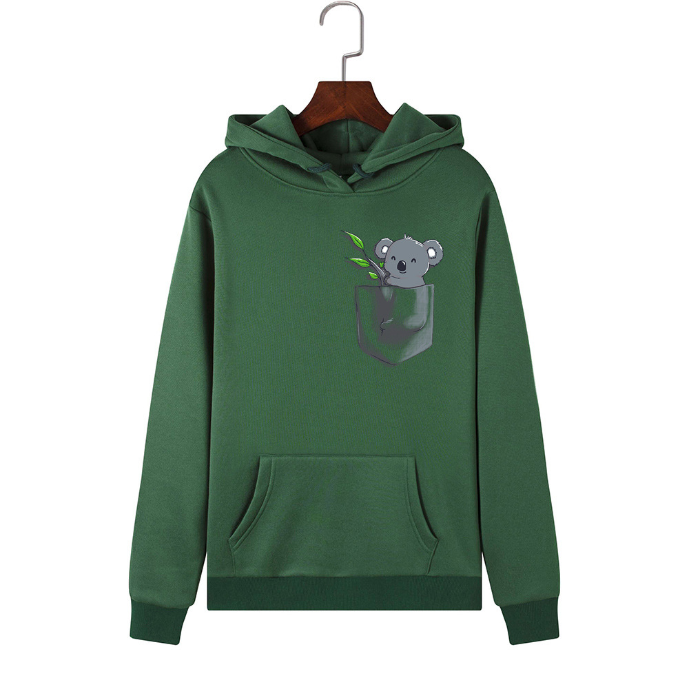 He187eb39d2e64e43b8464a14016988faY - Hoodies Women Brand Female Long Sleeve Cute Animal Koala Print Hooded Sweatshirt Tracksuit Pullover Casual Sportswear S-2XL
