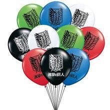 10 pçs/lote desenhos animados anime ataque em titã látex balões menino menina funs festa de aniversário decorações ballons crianças aniversário brinquedos