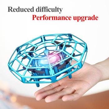Mini Drone UFO zabawki kontrola wykrywania podczerwieni ręcznie latające samoloty Quadcopter Infraed helikopter RC zabawka dla dzieci tanie i dobre opinie XINGYUCHUANQI CN (pochodzenie) Z tworzywa sztucznego As show 11 3*11 3*4 8CM Mode1 Mode2 Silnik szczotki 3 7V 300mAh 4D-V3