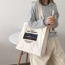 Women Canvas Shopping Bag Oil Painting Design Books Bag Female Cotton Cloth Shoulder Bag Eco Handbag Tote Grocery Shopper Bags