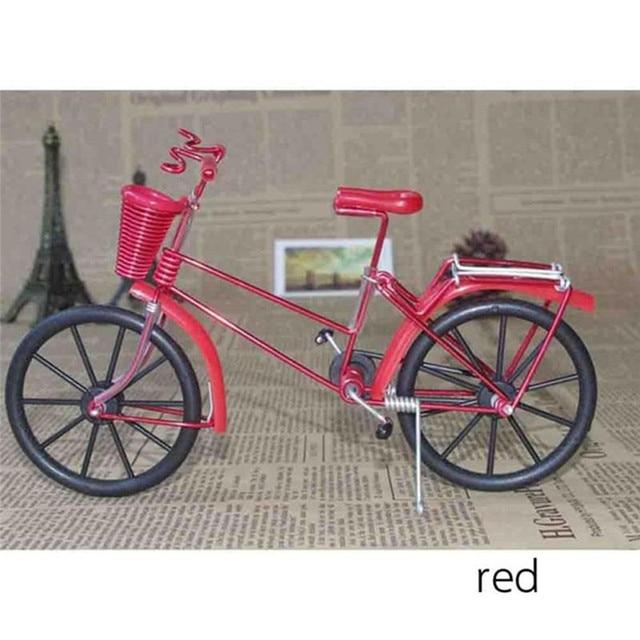 Antique Bike Model Metal Craft Home Decoration Vintage Bicycle Figurine Miniatures kids Gift Mini Creative Crafts 6