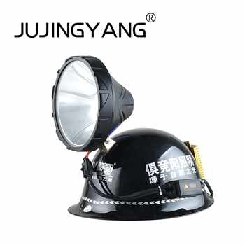 High quality ABS xenon headlights aluminum helmet headlight strong light long-range IP65 waterproof HID headlamp