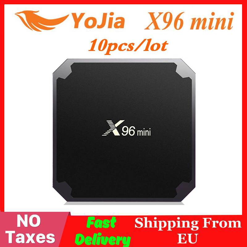 ( Fast Ship From EU No Tax ) 10pcs/lot X96mini Android 7.1 TV BOX X96 Mini Lot Amlogic S905W Quad Core Media Player 2.4GHz WiFi
